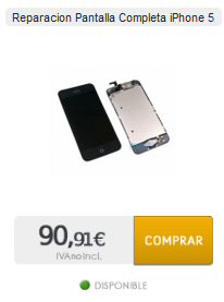 Arreglar pantalla de iphone 5 a distancia