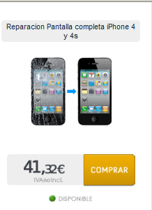 Reparar pantalla de iphone a domicilio