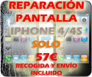 arreglar pantalla iphone 4