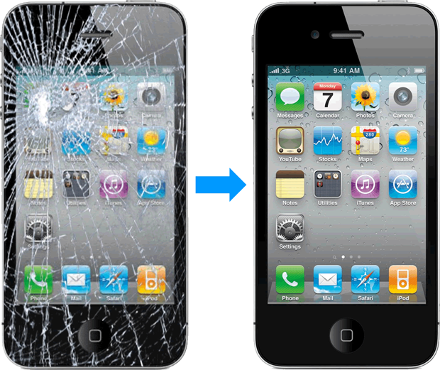 reparar pantalla iphone