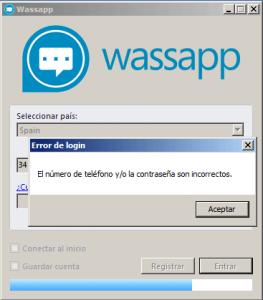 error-wassap